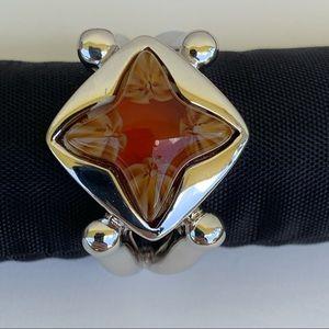 Sterling Silver Murano Glass Ring